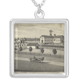 McDonald Farm, Nebraska Silver Plated Necklace
