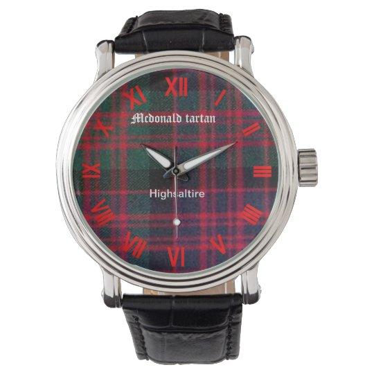 mcdonald tartan watch by highsaltire