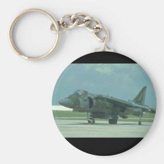McDonnel Douglas AV-8B_Aviation Photography Basic Round Button Key Ring