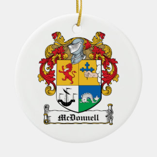 McDonnell Family Crest Christmas Ornament