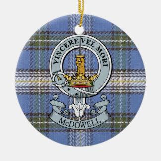 McDowell Crest + Tartan Circle Ornament