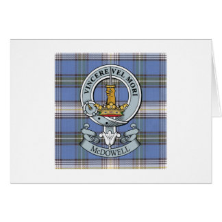 McDowell Crest + Tartan Greeting Card