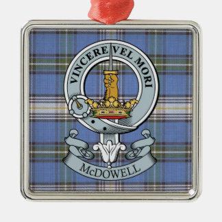 McDowell Crest + Tartan Premium Ornament