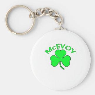 McEvoy Basic Round Button Key Ring