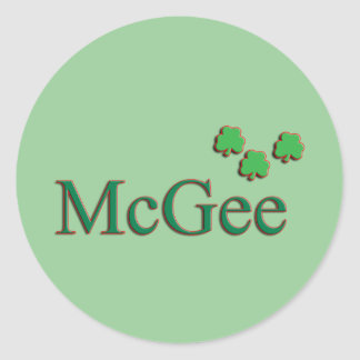 McGee Family Round Sticker