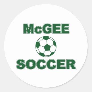 McGee Soccer Round Sticker