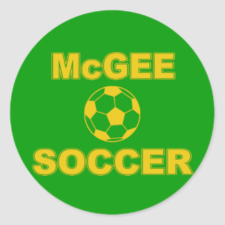 McGee Soccer Classic Round Sticker