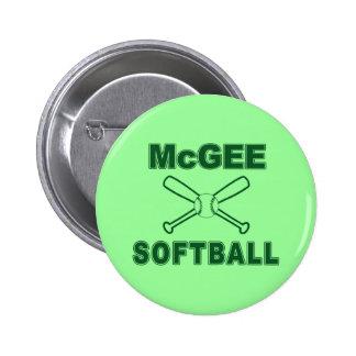 McGee Softball Buttons