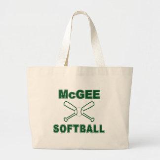 McGee Softball Jumbo Tote Bag