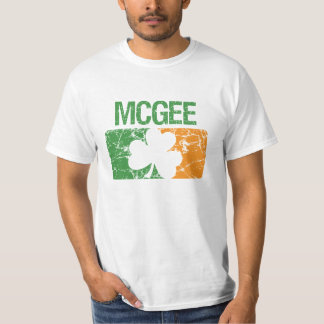 Mcgee Surname Clover Tee Shirt