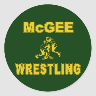 McGee Wrestling Classic Round Sticker