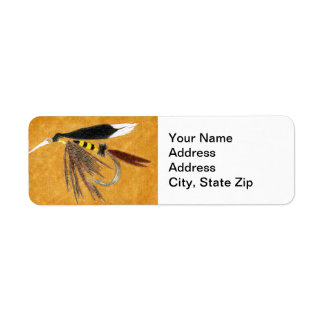 """McGentY"" Trout Fly Return Address Label"