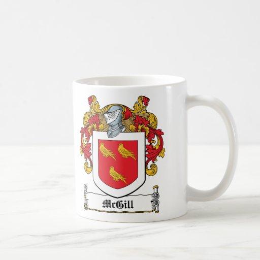 McGill Family Crest Classic White Coffee Mug