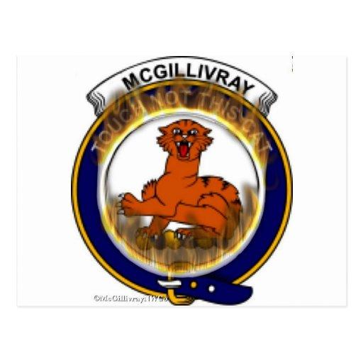 McGillivary Flaming Badge Postcard