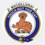 McGillivray Family Crest Round Stickers