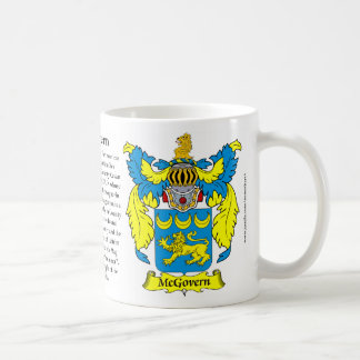 McGovern Family Coat of Arms Mugs