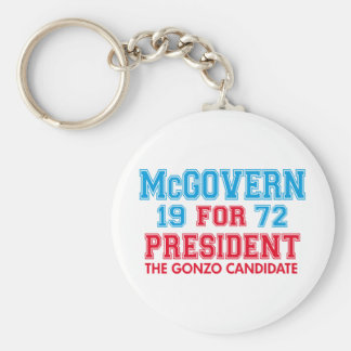 McGovern Gonzo Candidate Keychains