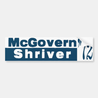 McGovern Shriver 1972 Bumper Sticker