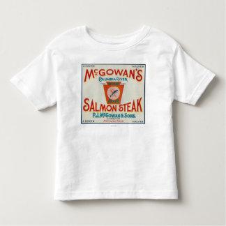 McGowan, Washington - Keystone Salmon Case Label Toddler T-Shirt