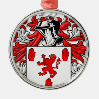 McGuckin Coat of Arms Silver-Colored Round Decoration