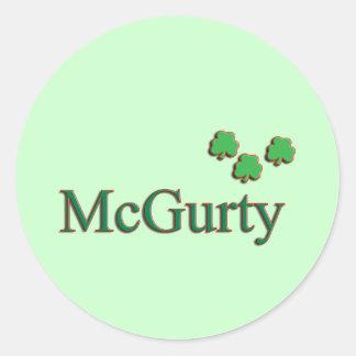 McGurty Family Round Sticker
