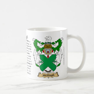 McHugh, the Origin, the Meaning and the Crest Mug