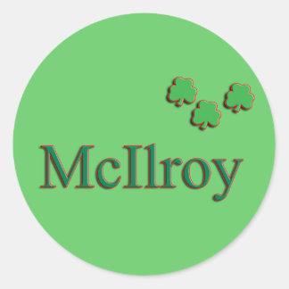 McIlroy Family Round Sticker