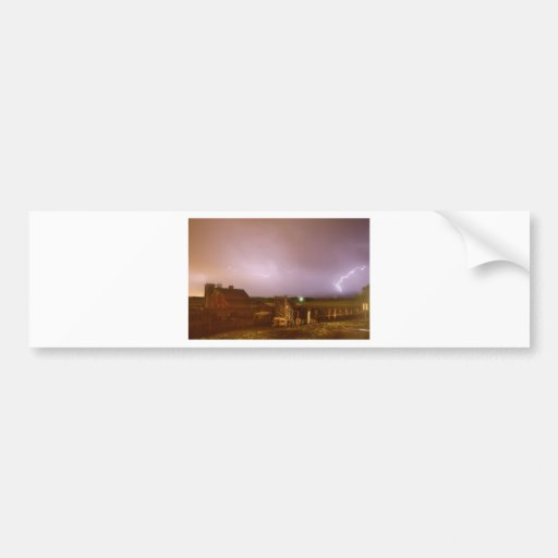 McIntosh Farm Lightning Thunderstorm View Bumper Sticker