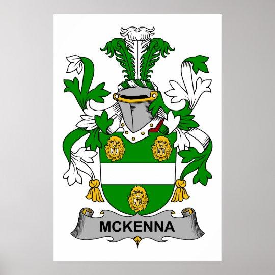 McKenna Family Crest Poster