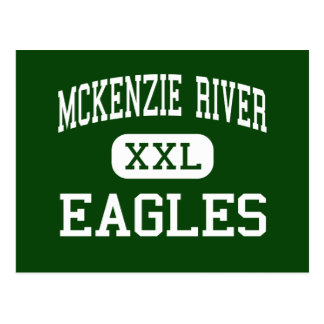 McKenzie River - Eagles - High - Finn Rock Oregon Postcard