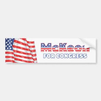McKeon for Congress Patriotic American Flag Design Bumper Sticker