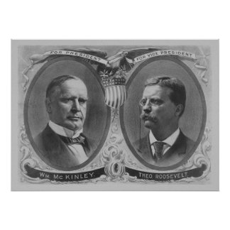 McKinley and Roosevelt Election Poster