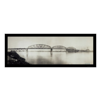 McKinley Bridge MO Photo 1910 Poster