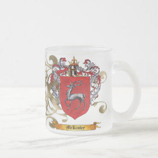 McKinley Coat of Arms (2-sided) 10 Oz Frosted Glass Coffee Mug