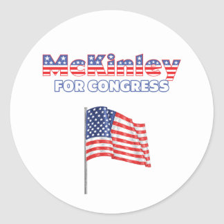 McKinley for Congress Patriotic American Flag Stickers