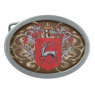McKinley Shield of Arms Oval Belt Buckles
