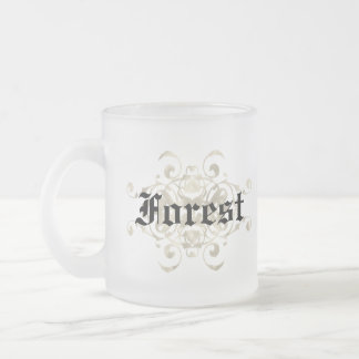 McKinley Shield of Arms Peronalized Frosted Glass Mug