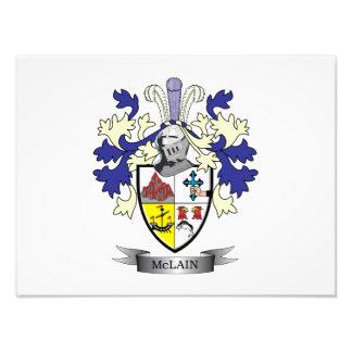 McLain Family Crest Coat of Arms Art Photo