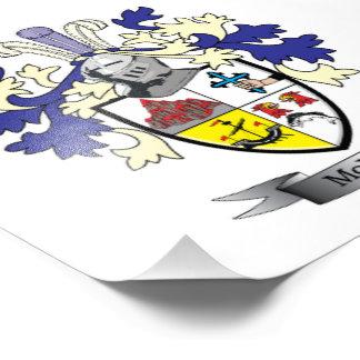 McLain Family Crest Coat of Arms Photo Art
