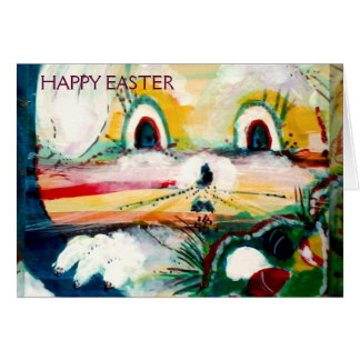 MClairArt's Funny Sun Faces Easter Bunny Card