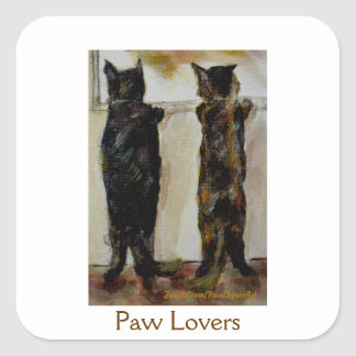 MClairArt's Paw Lovers Art Gifts Square Sticker