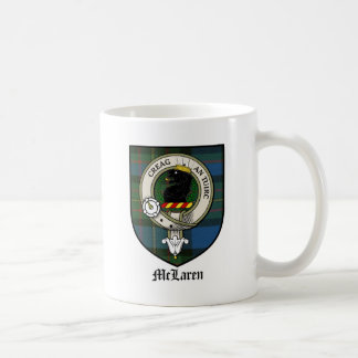 McLaren Clan Crest Badge Tartan Coffee Mug