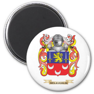 McLaughlin Coat of Arms (Family Crest) 6 Cm Round Magnet