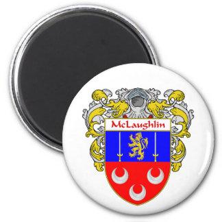 McLaughlin Coat of Arms Mantled Fridge Magnets
