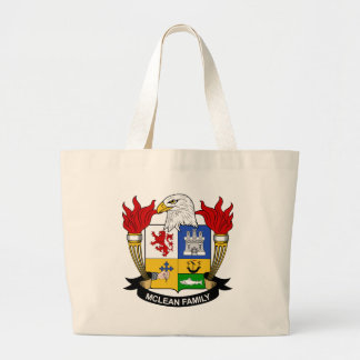 McLean Family Crest Large Tote Bag