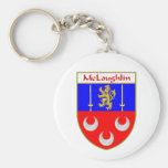 McLoughlin Coat of Arms/Family Crest Basic Round Button Key Ring