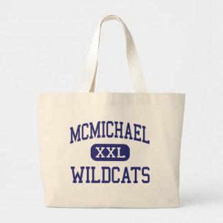 McMichael Wildcats Middle Detroit Michigan Canvas Bags