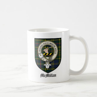 McMillan Clan Crest Badge Tartan Coffee Mug