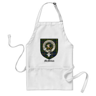 McMillan Clan Crest Badge Tartan Standard Apron