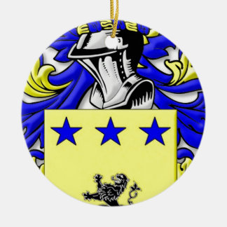 McmMullen Coat of Arms Christmas Tree Ornaments